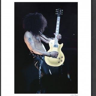 """Slash"" 24x30 Custom Framed Globe Hollywood Photo"