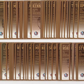 Lot of (115) LE Bronze Bust Football Hall of Fame Postcards with (21)