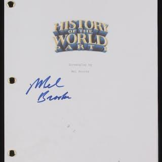"Mel Brooks Signed ""History of the World Part 1"" Movie Script (Beckett COA)"