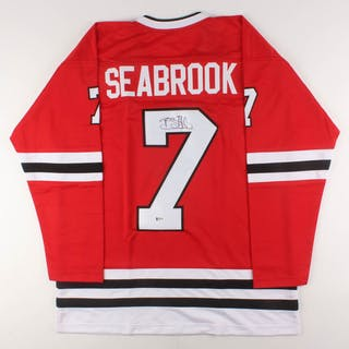 Brent Seabrook Signed Jersey (Beckett COA)