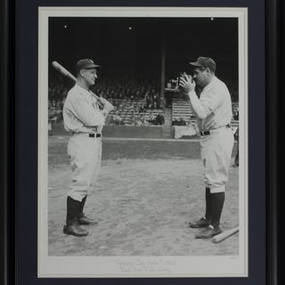 "The Hulton Archive - Babe Ruth & Lou Gehrig ""Opening Day Photo"" 24x29"