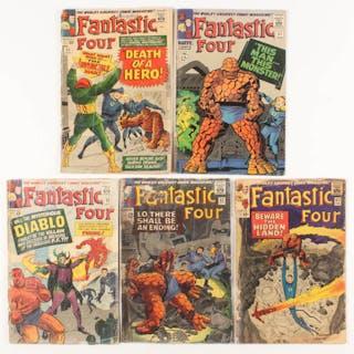 "Lot of (5) 1964-1966 ""Fantastic Four"" 1st Series Marvel Comic Books"