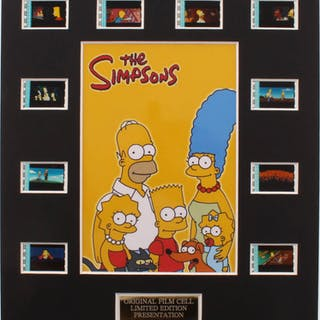 """""""The Simpsons Movie"""" LE 8x10 Custom Matted Original Film / Movie Cell Display"""