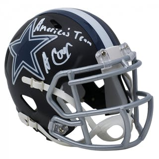 Amari Cooper Signed Dallas Cowboys Matte Black Speed Mini Helmet Inscribed