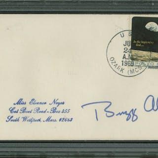 Buzz Aldrin Signed 1969 Event Cover Cachet (PSA Encapsulated)