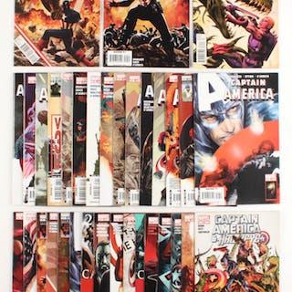 "Lot of (34) 2005-2012 ""Captain America"" Marvel Comic Books"