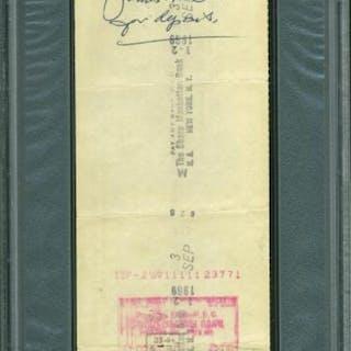 Jimmy Demaret Signed Bank Check (PSA Encapsulated)