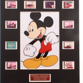 """""""Mickey Mouse"""" LE 8x10 Custom Matted Original Film / Movie Cell Display"""