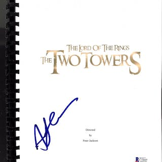 """Andy Serkis Signed """"The Lord of the Rings: The Two Towers"""" Movie Script"""