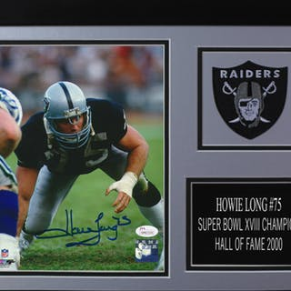 Howie Long Signed Los Angeles Raiders 14x18.5 Custom Framed Photo