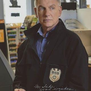 """Mark Harmon Signed """"NCIS"""" 8x10 Photo Inscribed """"Good Wishes"""" (Beckett COA)"""