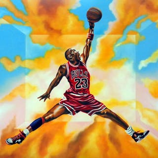 "Hector Monroy ""Michael Jordan"" 24x32 Oil Painting on Canvas"