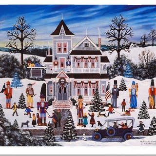 """Jane Wooster Scott Signed """"Nutcracker Fantasy"""" Limited Edition 22x19 Lithograph"""