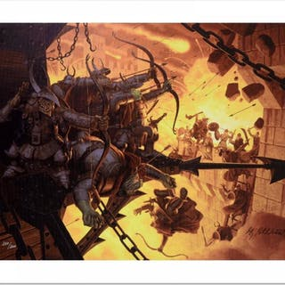 """The Siege Of Minas Tirith"" Limited Edition 28x21 Giclee on Canvas"