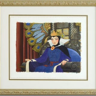 """Toby Bluth Signed """"Face of Evil"""" Custom Framed LE 20x23 Giclee from Disney"""