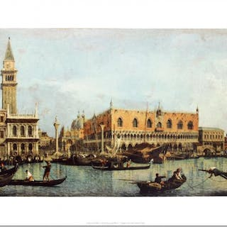 """""""Canal of San Marco with the Piazza San Marco"""" 23x35 Fine Art Print"""