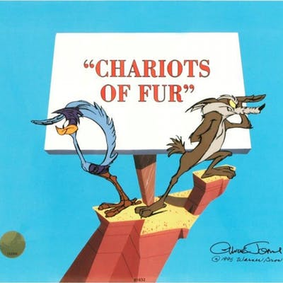"""Chuck Jones Signed """"Chariots of Fur"""" Sold Out Limited Edition 12x10"""