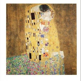 """""""The Kiss"""" Fine Art 23x24 Print by Gustav Klimt"""