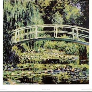 """""""White Waterlilies"""" Fine Art 28x30 Print by Monet"""