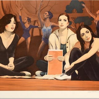 """William Nelson Signed """"The Audition"""" Limited Edition 21x29 Lithograph"""