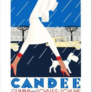 """Candee"" Hand-Pulled 13x21 Lithograph by the RE Society"