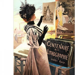 """""""Exposition Du Centenaire"""" Hand Pulled 22x31 Lithograph By The RE Society"""