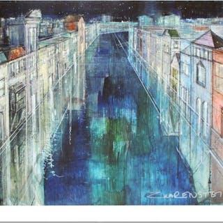 "Alex Zwarenstein Signed ""Long Canal, Venice"" Limited Edition 36x24"