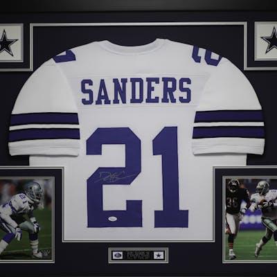 size 40 d5a6b 4f522 Deion Sanders Signed Cowboys 35