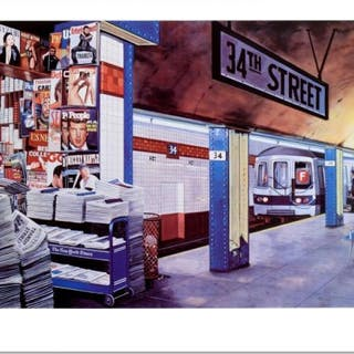 """Ken Keeley Signed """"My Underground: 34th St Station"""" Limited Edition"""