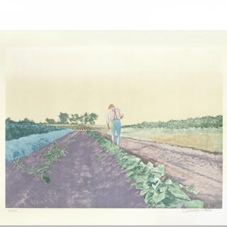 """William Nelson Signed """"Cabbage Patch"""" Limited Edition 22x28 Serigraph"""