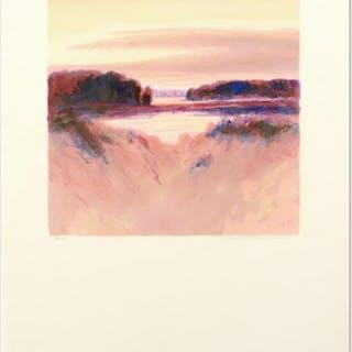 "Peter Pettegrew Signed ""Daybreak Vista II"" LE 19x29 Lithograph"