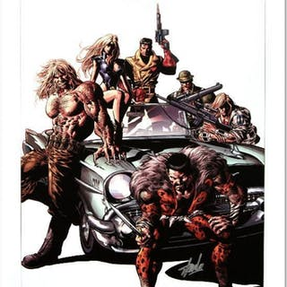 """Stan Lee Signed """"New Avengers #10"""" Limited Edition 18x27 Giclee on"""