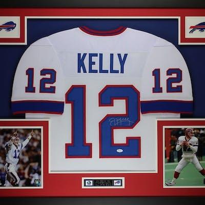 sale retailer 7608f 49efe Jim Kelly Signed Bills 35