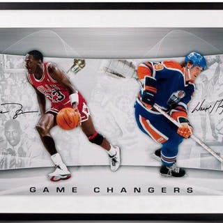 the latest 04856 fdbe5 Michael Jordan   Wayne Gretzky Signed