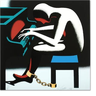 "Mark Kostabi Signed ""I Did It Steinway"" Limited Edition 18x18 Serigraph"