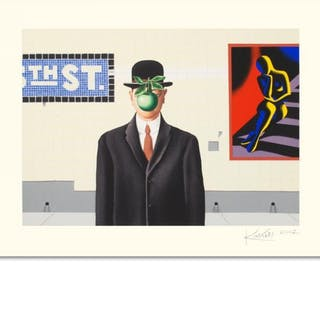 "Mark Kostabi Signed ""Going Places"" Limited Edition 27x35 Serigraph"