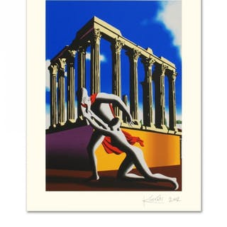 "Mark Kostabi Signed ""Eternal City"" Limited Edition 27x35 Serigraph"