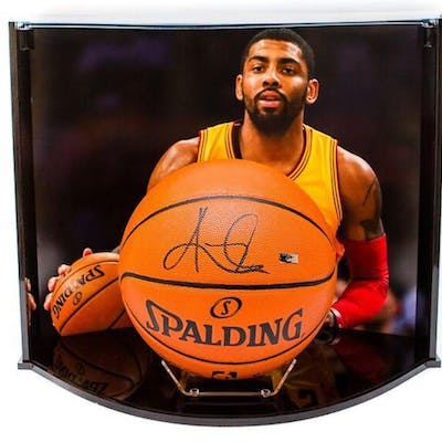 Kyrie Irving Signed NBA Game Ball Series Basketball with Custom Curve
