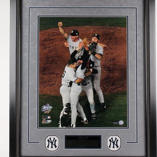 "1998 Yankees World Series Champions LE 25"" x 32"" Custom Framed Photo"