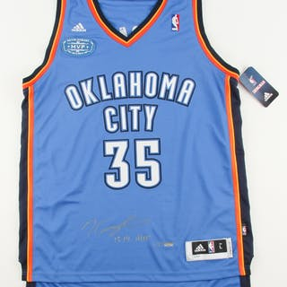 e4d28a8358f Kevin Durant Signed LE Thunder Adidas Jersey with 2013-2014 MVP Patch