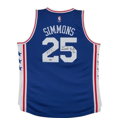 """Ben Simmons Signed Philadelphia 76ers Authentic Jersey Inscribed """"#1"""