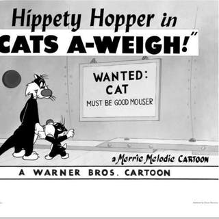 """""""Cats-A-Weigh (Wanted Cat)"""" Limited Edition 16x20 Giclee from Warner Bros."""