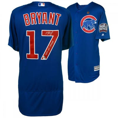 Kris Bryant Signed Chicago Cubs 2016 World Series Jersey Inscribed
