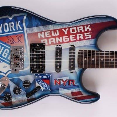 Henrik Lundqvist Signed LE New York Rangers Electric Guitar Inscribed