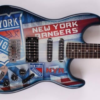 Henrik Lundqvist Signed LE New York Rangers Electric Guitar Inscribed