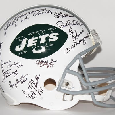 1969 Jets Authentic Pro-Line Throwback Helmet Team Signed by (24)