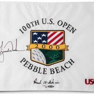 """Tiger Woods Signed 2000 US Open """"Record 15-Stoke Win"""" Limited Edition"""