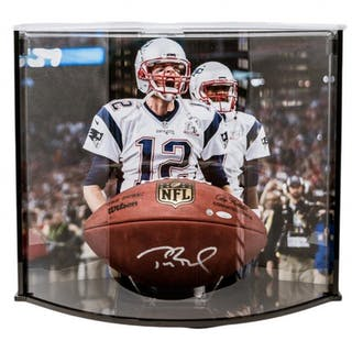 "Tom Brady Signed ""The Duke"" NFL Official Game Ball with Curve Display"
