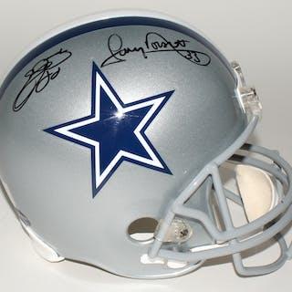 Emmitt Smith & Tony Dorsett Signed Cowboys Full-Size Helmet (PROVA