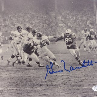 Gino Marchetti Signed Colts 8x10 Photo (JSA COA)